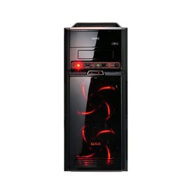 Корпус GMC High Five (Black), w/o PSU, 5.25 x1, 3.5 x3, USB2.0 x 3, USB 3.0 x 1, 5x 120mm LED, ATX